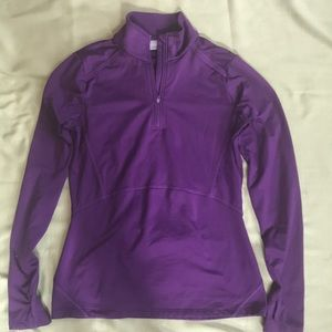 Athleta Quarter Mile 1/2 Zip Purple Size Medium